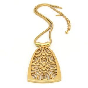 Monet Modernist Geometric Pendant Necklace Vintage